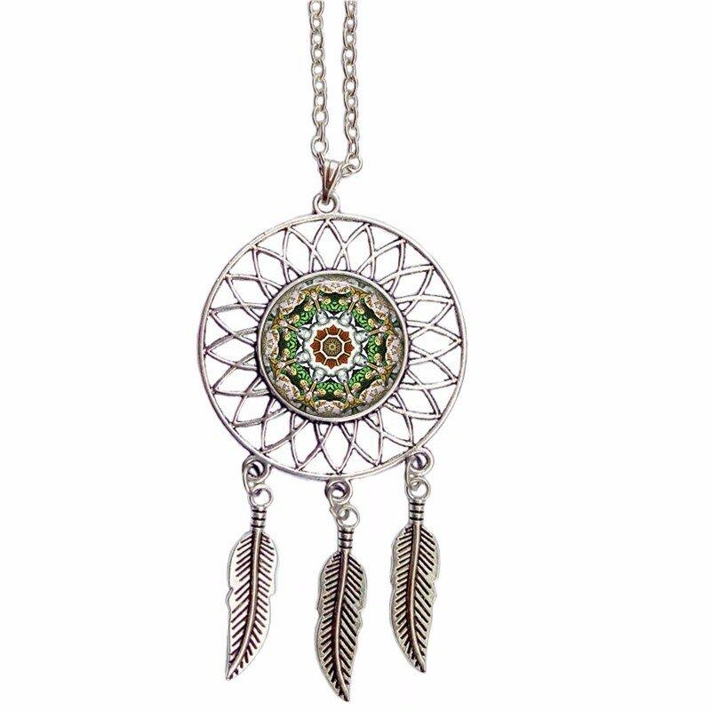 Crystal Mandala Dream Catcher Necklace